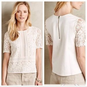 Anthropologie Sunday In Brooklyn Ellis Lace Top S
